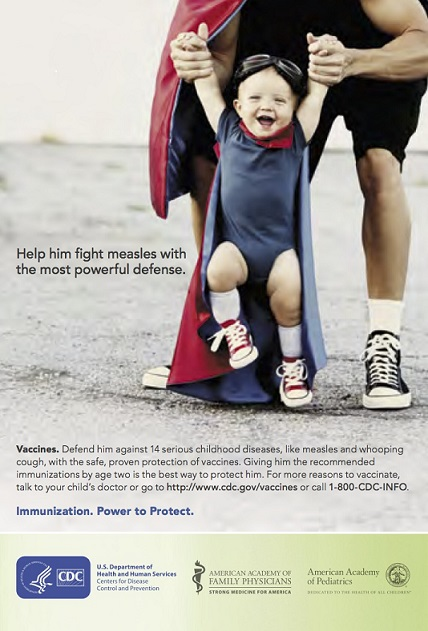 Vaccinate your little Superman