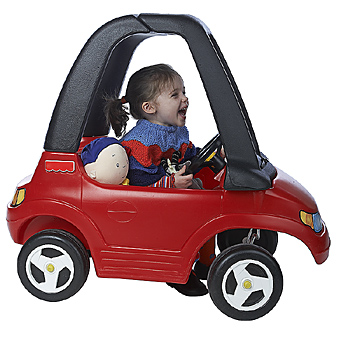 Kids with challenges zoom on souped up kiddie cars