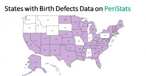 Birth defects on PeriStats by state