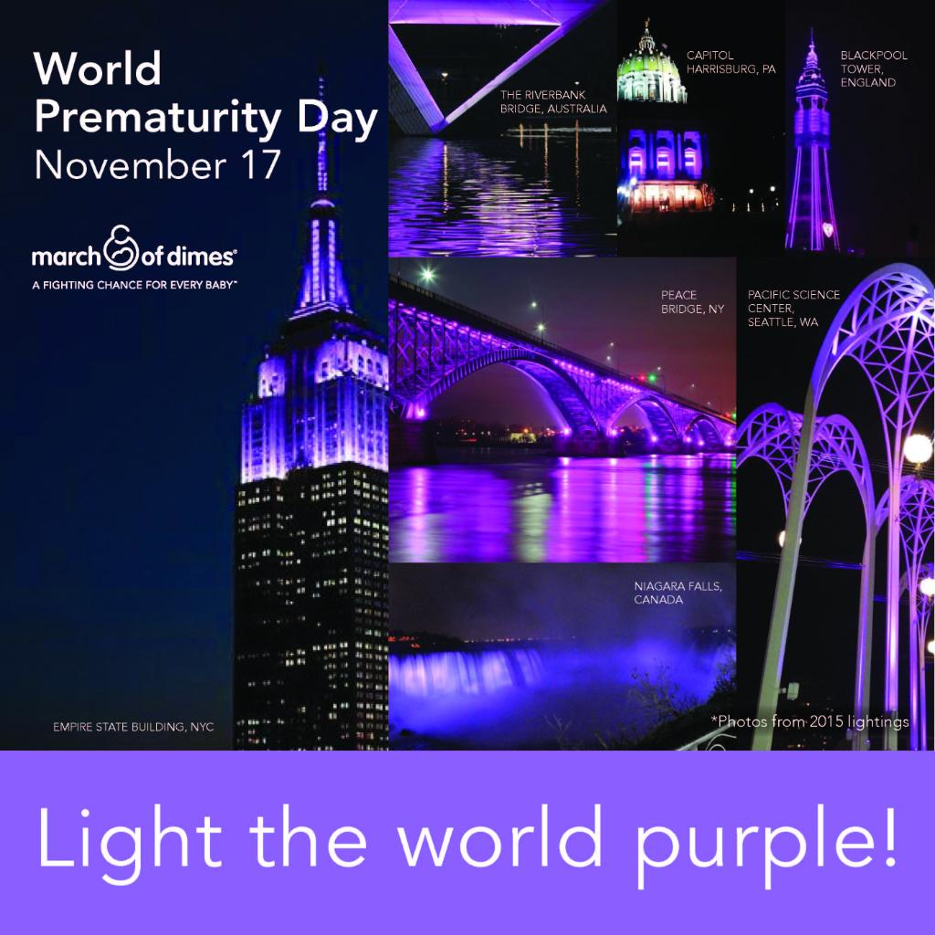 Join in World Prematurity Day activities tomorrow