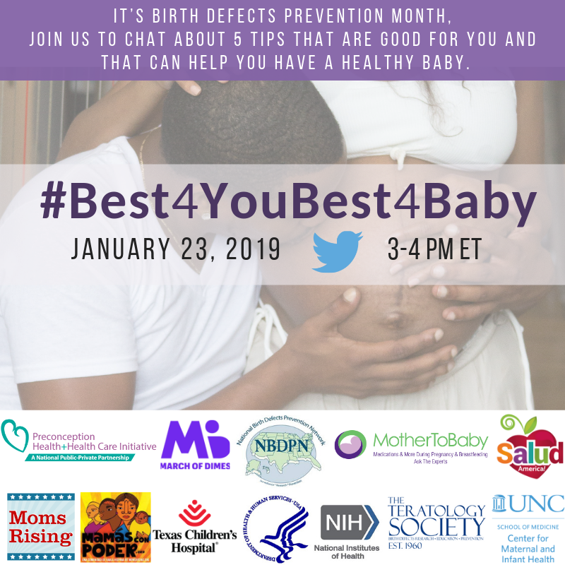 It's Birth Defects Prevention Month — come chat with us!